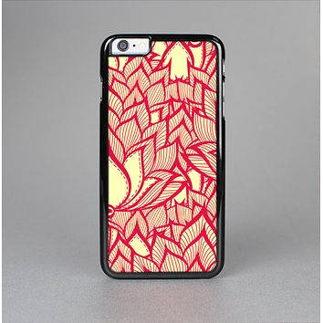 The Sketched Red and Yellow Flowers Skin-Sert for the Apple iPhone 6 Plus Skin-Sert Case