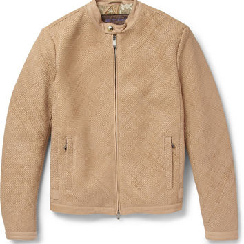 Etro - Woven-Leather Silk-Lined Bomber Jacket | MR PORTER