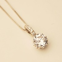 Brilliant Shines Round Rhinestone Necklace