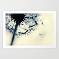 droplets of blueberry blue Art Print by ingz