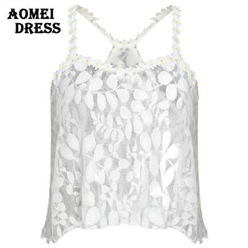 Sexy Summer Lace Crop Tops feminine cropped blouses vest clothing women feminine