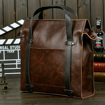 fashion coffee business leather bag,