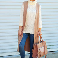 Crisp In Fall Sweater Vest: Mocha