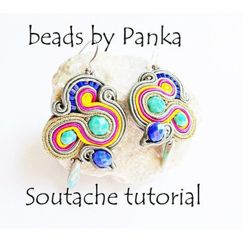Soutache tutorial Soutache earrings Tutorial soutache pattern
