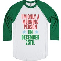 Only a Morning Person on December