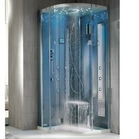 MULTIFUNCTION HYDROMASSAGE SHOWER CABIN WITH CHROMOTHERAPY TEMPO CORNER | HAFRO