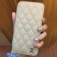 CHANEL alphabet print iPhone Phone Cover Case For iphone 6 6plus 7 7plus H-AGG-CZDL