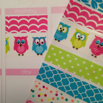 K69 Washi Stickers for Erin Condren Life Planner or Plum Paper Planner