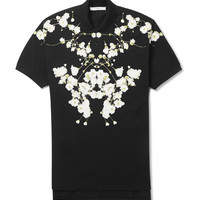 Givenchy - Floral-Print Cotton-Piqué Polo Shirt | MR PORTER