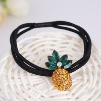 1 PC Rhinestone Pineapple Hair Clip Women Crystal Hair Ornament fruit hairpins Summer Jewelry Accessories 2017 Newest