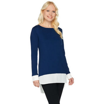 Susan Graver Rayon Nylon Sweater with Feather Weave Combo — QVC.com