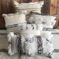 Pillows Moroccan wedding blanket