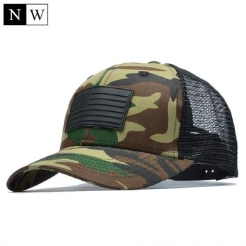 [NORTHWOOD] Camo Mesh Baseball Cap Men Camouflage Bone Masculino Summer Hat Men Army Cap Trucker Snapback Hip Hop Dad Hat