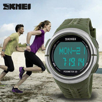 Heart Rate Monitor watch pedometer Sport LED watches for men  50m waterproof digital watch