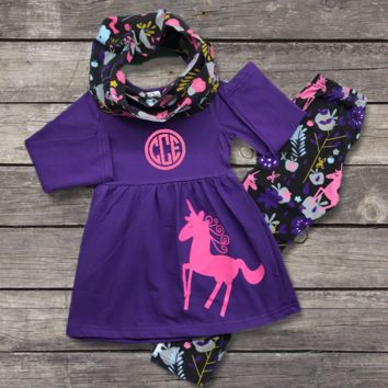 Purple Unicorn Scarf Outfitt