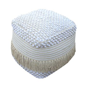 Alfie Boho Cotton Pouf by Christopher Knight Home