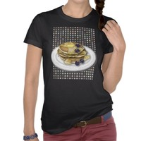 Pancakes With Syrup And Blueberries Tshirt