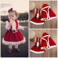 Infant Baby Girl Christma 2pcs Outfits Sets