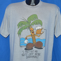 80s I Partied My Nuts Off in the Bahamas Funny t-shirt Large