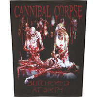 Cannibal Corpse Men's Butchered At Birth Back Patch Black