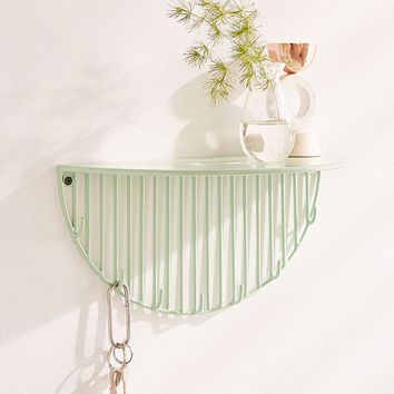 Optic Lines Wall Hook Shelf | Urban Outfitters