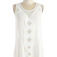 Festival Mid-length Sleeveless Party Up in Sheer Top
