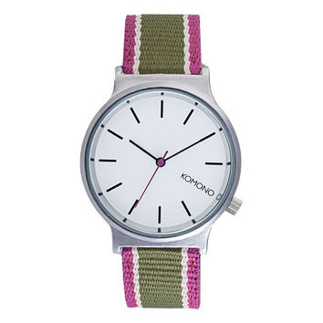 Komono Watches - Wizard Three Tone Series - Silver Hedge Green