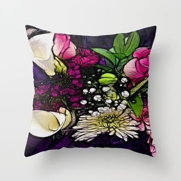 :: Bring Flowers :: Throw Pillow by :: GaleStorm Artworks ::