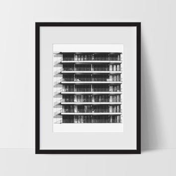 Architecture Wall Print, Black and White Modern Art, Photography