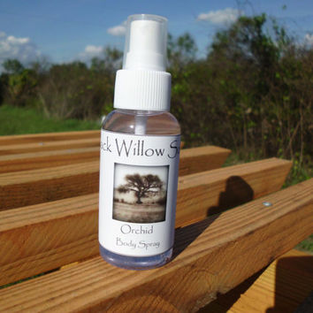 Handmade Body Spray Orchid scented 3 oz by BlackWillowSoaps