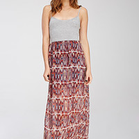 Tribal Print Combo Maxi Dress