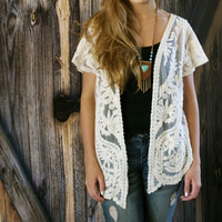 Embroidery Lace Cardigan
