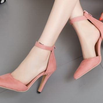 Fashion hot selling women with high heel sandals and high heels