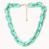 Candy-Coated Curb Chain Necklace