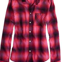 Factory Plaid Button Shirt