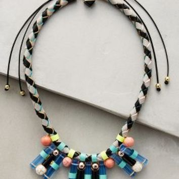 Nocturne Blake Bib Necklace in Blue Motif Size: One Size Necklaces