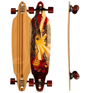 Drop Through Pacific Sunset Bamboo Longboards