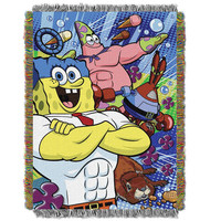 Spongebob Movie Snack Attack Triple Woven Jacquard Throw (48x60)