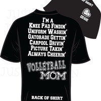 VolleyBall Mom Bling T-Shirt small - XL