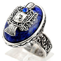 fashion Vintage Vampire Diaries Stefan Damon Salvatore Crest ring 4 SIZE HS88