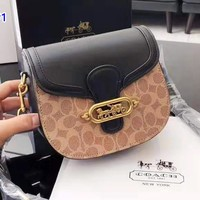 Coach fashion hot seller printed patchwork color casual lady shopping shoulder bag #1