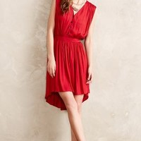 Elok High-Low Dress by Nomad by Morgan Carper Red