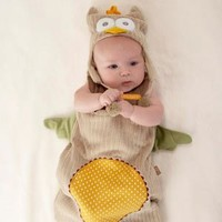 Baby Aspen, Sack and Cap My Little Night Owl Snuggle, 0-6 Months, Beige