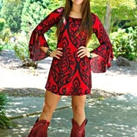 The Ring Of Fire Dress in Red