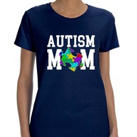 Women's T Shirt Autism Mom Autistic Awareness TShirt