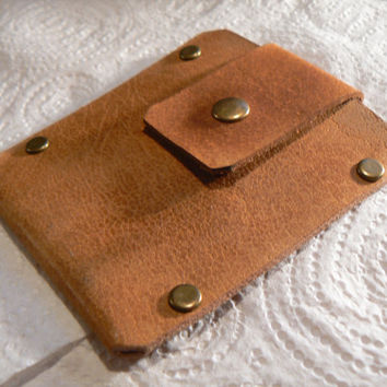 Men's  Brown Leather Wallet , Minimalist ,Leather Wallet slim , Mens  Thin Wallet, father's day gift