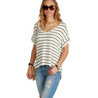 Ivory Relaxed Striped Tee