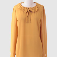 High Noon Ruffled Blouse
