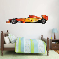 kcik189 Full Color Wall decal car racing formula race speed ring children's bedroom
