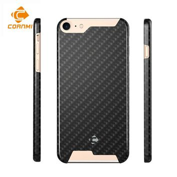 Case For iPhone 8 Cover  100% Real Carbon Fiber 4.7 inch Housing Ultra Thin Polishing Matte Back Shell CORNMI